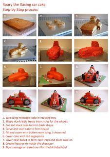 5 Currant Buns: Roary the racing car cake