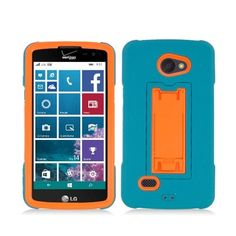 WEMO Rugged Symbiosis Stand LG Lancet Case - Turquoise/Orange