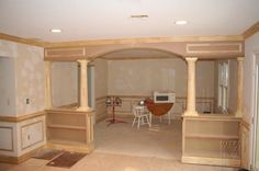 half+wall+bookcase+with+columns   BUILT-INS : Half Wall Bookcases (1 of 2)