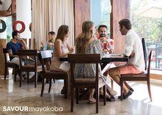 Comida en la casa club.- en el campo de golf El Camaleón. #SAVOURmayakoba