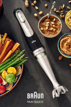 Introducing our newest hand blender, the MultiQuick with the world's first ACTIVEBlade technology! Braun Hand Blender, Hand Held Blender, Happy Kitchen, Blender Recipes, Kitchen Appliances, Kitchen Tools, Food Preparation, I Love Food, Food Photo