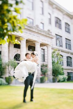 Couple photos don't always have to be portraits up close of your face.  Have some fun! Photos by Clane Gessel Photography | #weddings #photography #brideandgroom