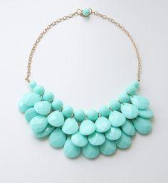 Party Necklace Aqua Blue Necklace Women's Jewelry