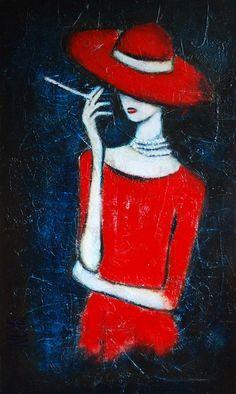 Moonlighting Abstract Art Painting by Nebojsa Jovanovic NESAART