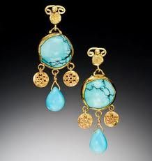 turquoise and gold jewelry - Google Search