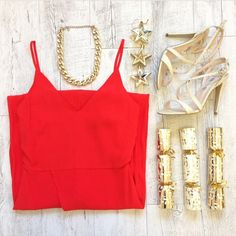 Christmas themed flatlay styling and photography for Wish Designs Flatlay Styling, Christmas Themes, Camisole Top, Tank Tops, Photography, Instagram, Design, Women, Fashion