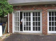Image result for garage door conversion to french doors
