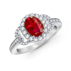 The Luxe Link Ring Ruby Ring, Ruby Ring