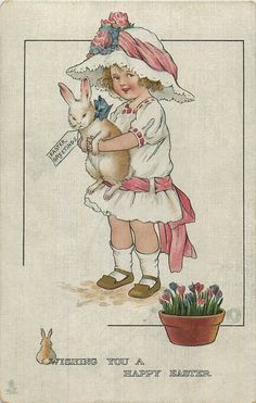 Easter postcards with the abbreviation MBH, dated 1914