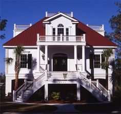 Designed for the coastal area of Charleston, South Carolina, the colonial features throughout this historical style cottage embrace casual living.