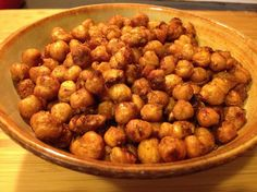 Roasted Spicy Chickpeas from Grabbing the Gusto.