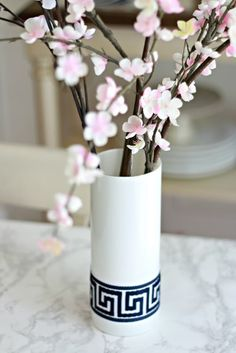 DIY Greek Key Vase