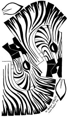 Mask , Zebra Mask , Zebra Mask , Original Outer Space Printmaking by Roman Barsukov Gato Origami, Zebra Mask, Escher Art, Lion King Costume, Giraffe Costume, Cardboard Mask, Lion King Jr, Horse Mask, Lion Mask