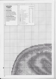Just Cross Stitch Patterns---PAGE 2 OF 5---BROWN TABBY