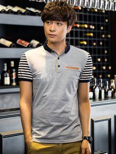 Stripes Polo Shirt Multicolor Cotton Polo Shirt for Men Work Polo Shirts, Polo Shirt Style, Polo Shirt Design, Polo Rugby Shirt, Polo Shirt Women, Striped Polo Shirt, Men's Shirts, Polo Outfit, Camisa Polo