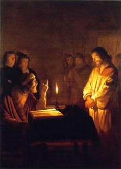 Christ Before the High Priest - Gerard van Honthorst                         ~1617