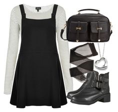 """""""Untitled #5731"""" by florencia95 ❤ liked on Polyvore featuring moda, Topshop, Goldie, Elsa Peretti y Forever 21"""