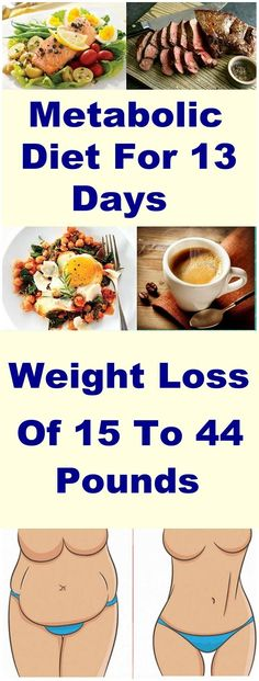 Metabolic Diet For 13 Days, Weight Loss Of 15 To 44 Pounds