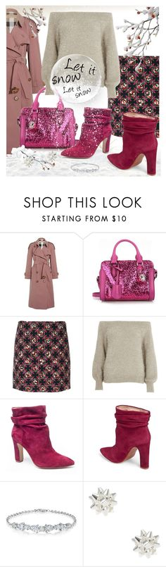 """""""Let it snow.."""" by sara-cdth ❤ liked on Polyvore featuring Burberry, Alexander McQueen, Emilio Pucci, River Island, Chinese Laundry and Kristin Cavallari"""