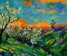 Spring 672101 Painting  - Spring 672101 Fine Art Print
