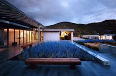 Santa Fe Glass House landscaping - Architizer