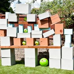 Life-size Angry Birds Game