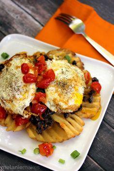 Huevos Rancheros Waffle Fries | Melanie Makes