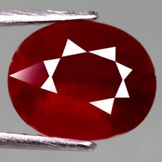 4.42 Ct. Dazzing! Natural Ruby Oval Facet Top Blood Red Madagascar #Gemnatural