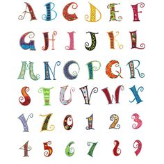 Curly Alphabet Applique Machine Embroidery Font | Designs by JuJu