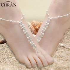 Barefoot Wedding Shoes Anklet Toe Beaded Charm Bracletet Price: $14.96 #barefoot sandals #foot jewelry #barefoot baby sandals #wedding barefoot sandals #barefoot shoes for women #barefoot wedding shoes #beach wedding barefoot sandals #bridal barefoot sandals #foot jewelry for wedding #wedding foot jewelry