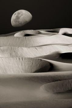 Dunes Under The Moon