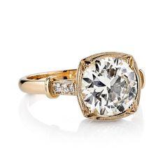 Art Deco 2.44ct Old European Cut Diamond Engagement Ring  image 2