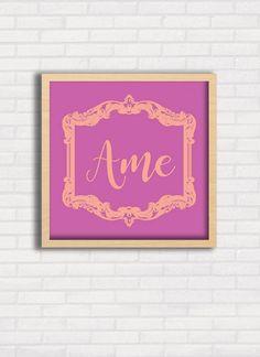 Pôster quadrado com opções de tamanho, moldura e papel. Disponível em https://www.topquadros.com.br/giselealves/ #quadros  #moldura  #decoração  #parede  #poster  #romântico  #homedecor  #delicado