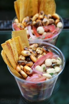 Vegetarian Ceviche de Chochos by Laylita.     Oh wow, I must find chochos, or just try this with white hominy or something.