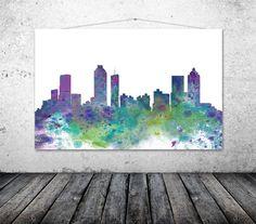 Atlanta City Georgia Atlanta City Skyline by TheWildlands on Etsy