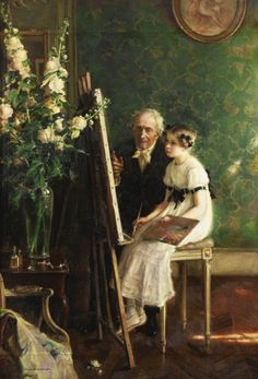 Jules-Alexis Muenier - The young artist (1911)