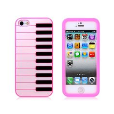 Piano Silicone Protective Case for iPhone 5 (Pink). $10.99, via Etsy.