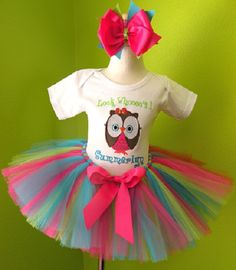Personalized Owl Birthday Tutu Outfit.. Chars 1rst birthday:)