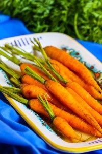 Roasted Carrots with Honey Ginger Glaze via Eat Live Run