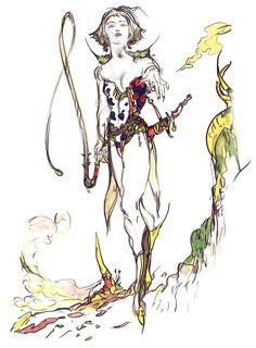 Final Fantasy V - Magissa Concept Art - Yoshitaka Amano Final Fantasy Cosplay, Final Fantasy Artwork, Final Fantasy Xiv, Game Character Design, Character Design Inspiration, Character Art, Manga Illustration, Character Illustration, Oriental