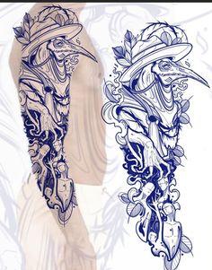 Half Sleeve Tattoos Drawings, Cool Half Sleeve Tattoos, Tattoo Sleeve Designs, Body Art Tattoos, Half Sleeve Tattoo Stencils, Tattoo Ink, Leg Tattoos, Pine Tattoo, Dark Tattoo