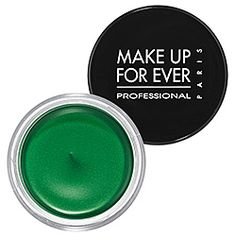 Make Up For Ever Aqua Cream  Color 22 Emerald Green-golden green sheen    #SephoraColorWash