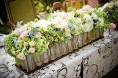 centre de table floral original