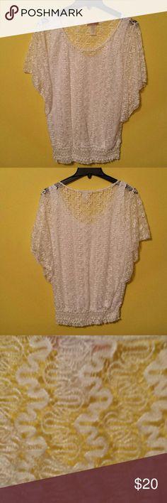 Gorgeous laced white blouse Gorgeous laced white blouse Lavish  Tops Blouses