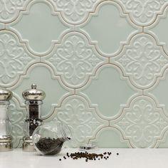Byzantine Florid Arabesque Alice Ceramic Tile - Arabesque Tile - Shop By Tile Shape and Pattern