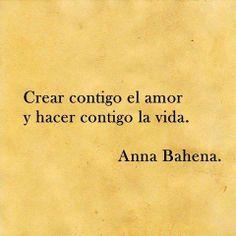 Crear contigo el amor...