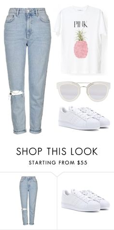 """""""24072016"""" by filledeplumes ❤ liked on Polyvore featuring Topshop, adidas Originals and Christian Dior"""