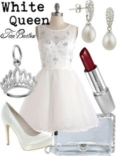"""White Queen (Alice in Wonderland)"" by thejoyofdisney ❤ liked on Polyvore"