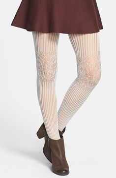 BP. Lace Knee Ribbed Tights (Juniors) available at #Nordstrom