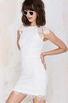 Nasty Gal Levina Lace Dress - White - Body-Con | LWD | Dresses | All | Clothes
